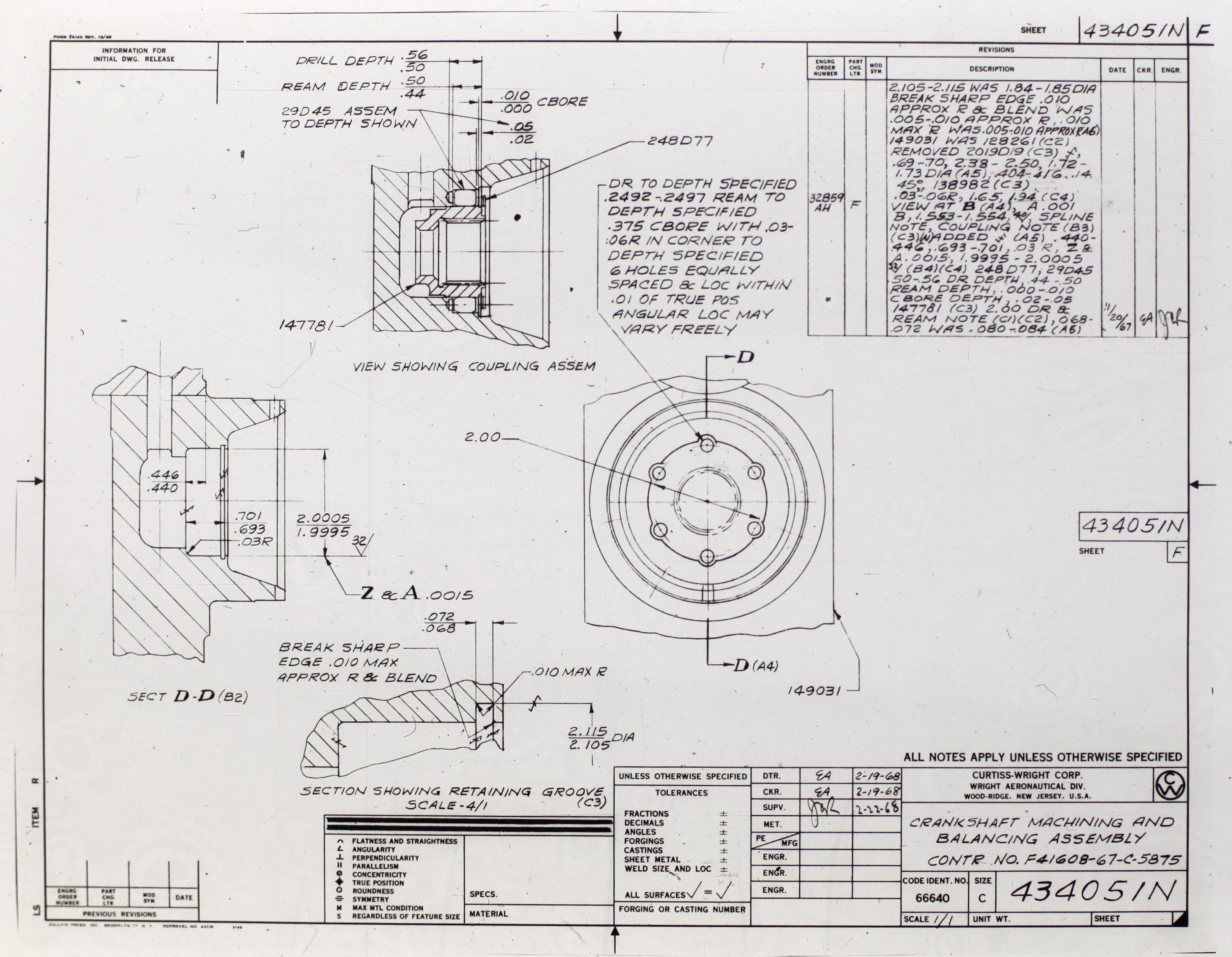 Dual Purpose Engineering Document Card 1966